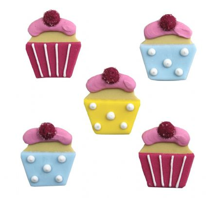 Sweet Treat Cupcake Sugar Decorations